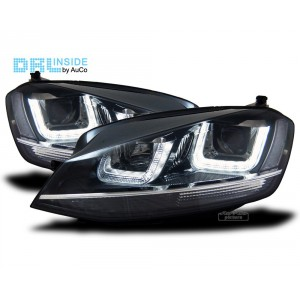 KIT FARI VW GOLF 7 VII DAL 2012 CON LUCI DIURNE LED DRL dayline H7 e H1