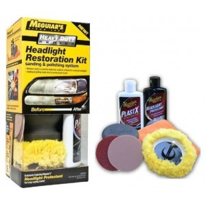 G-3000EU MEGUIARS KIT RINNOVA FANALI 2 STEP HEADLIGHT RESTORATION KIT